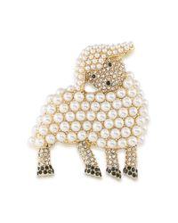 Carolee - Multicolor Lamb Brooch - Lyst