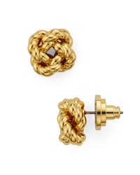 Tory Burch - Metallic Rope Knot Stud Earrings - Lyst