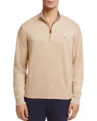 Vineyard Vines - Natural Quarter-zip Sweater for Men - Lyst