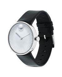 Movado - Metallic Men's Swiss Edge Black Rubber Strap Watch 40mm 3680001 for Men - Lyst