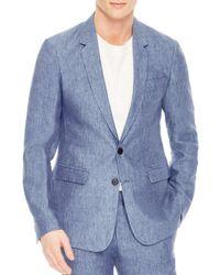 Sandro - Blue Notch Chambray Slim Fit Linen Sport Coat for Men - Lyst