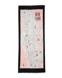 Kate Spade - Pink Map Of Manhattan Scarf - Lyst