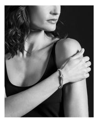 Lagos | Metallic 18k Gold And Sterling Silver Caviar Color Bracelet With White Topaz | Lyst