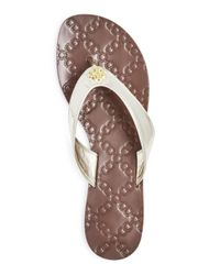 Tory Burch - Metallic Women's Monroe Thong Sandals - Lyst