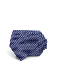 Ferragamo | Blue Micro Gancini Classic Tie for Men | Lyst