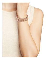 Rebecca Minkoff - Metallic Matte Ball Wrap Bracelet - Lyst