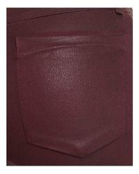 Joe's Jeans - Purple The Charlie Coated Ankle Skinny Jeans In Merlot - Lyst