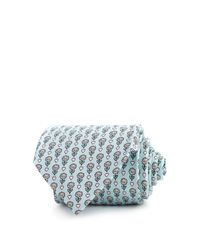 Thomas Pink - Blue Heart & Flower Print Classic Tie for Men - Lyst