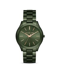 MICHAEL Michael Kors | Green Michael Micheal Kors Slim Runway Watch, 42mm | Lyst
