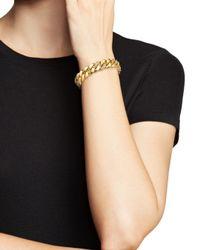 Roberto Coin - Metallic 18k Yellow Gold Link Bracelet With Diamonds - Lyst