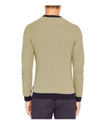 Ted Baker - Multicolor Coftini Triple Stitch Sweater for Men - Lyst