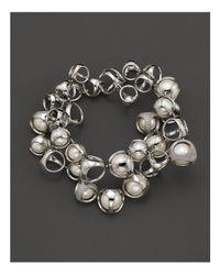 "Di Modolo | Metallic Freshwater Pearls And Diamonds ""icon"" Bracelet | Lyst"