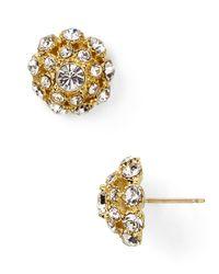kate spade new york   Metallic Putting On The Ritz Small Stud Earrings   Lyst