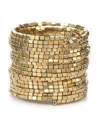 ABS By Allen Schwartz   Metallic Drama Coil Bracelet   Lyst