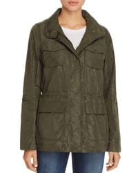 Vince Camuto - Green Coated Camo Raincoat - Lyst