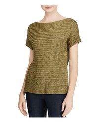 Ralph Lauren   Green Lauren Textured Short-sleeve Sweater   Lyst