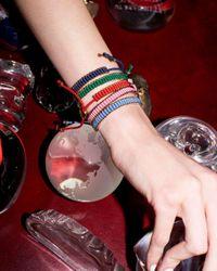 Links of London - Green Sterling Silver Mini Friendship Bracelet - Lyst