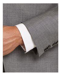HUGO   Gray Sharkskin Slim Fit Suit for Men   Lyst
