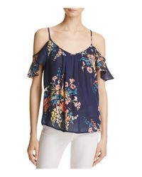 Joie - Blue Adorlee Silk Cold-shoulder Top - Lyst