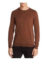 BOSS - Brown Leno Crewneck Sweater for Men - Lyst