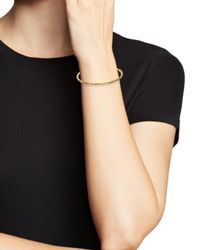 Bloomingdale's - Metallic Perforated Bangle Bracelet In 14k Yellow Gold - Lyst