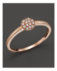 Dana Rebecca - Metallic 14k Rose Gold And Diamond Lauren Joy Mini Ring - Lyst