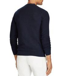 Polo Ralph Lauren - Blue Merino-silk-cashmere Cardigan Sweater for Men - Lyst