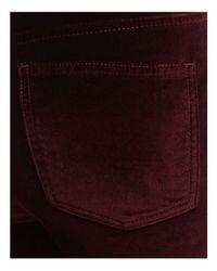 Aqua - Purple Velvet Skinny Jeans - Lyst
