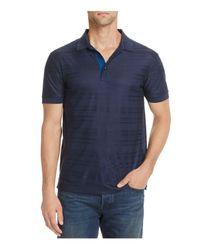 BOSS - Blue Green Janis Herringbone Jacquard Short Sleeve Polo Shirt for Men - Lyst