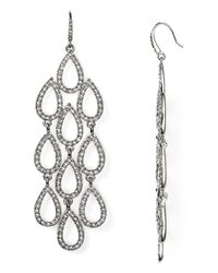 ABS By Allen Schwartz | Metallic Pave Beach Chandelier Earrings | Lyst