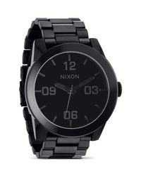 Nixon | The Corporal Stainless Steel All Black Watch, 48mm | Lyst