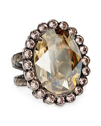 Sorrelli - Metallic Oval Cut Ring - Lyst