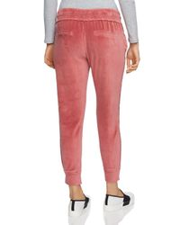 1.STATE - Red Velour Jogger Pants - Lyst