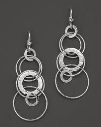 Ippolita | Metallic Sterling Silver Hammered Jet Set Earrings | Lyst