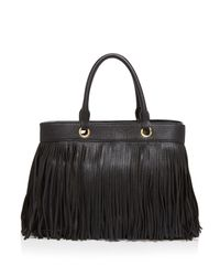 MILLY - Black Essex Fringe Tote - Lyst