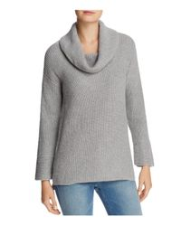 Calvin Klein - Gray Cowl Neck Chunky-knit Sweater - Lyst