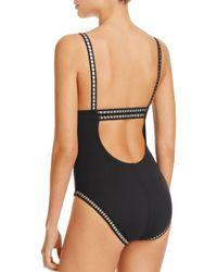 La Blanca - Black Threading Along One Piece Swimsuit - Lyst