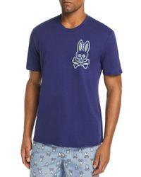 Psycho Bunny - Blue Lounge Bunny Crewneck Tee for Men - Lyst