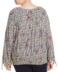 Lucky Brand - Multicolor Trendy Plus Size Cotton Smocked Peasant Top - Lyst
