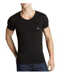 Emporio Armani | Black Classic Eagle V-neck T-shirt for Men | Lyst