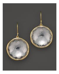 Ippolita | Metallic 18k Yellow Gold Large Lollipop Earrings In Clear Quartz | Lyst