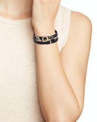 Alexis Bittar - Black Snake Charm Wrap Bracelet - Lyst