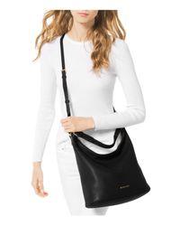MICHAEL Michael Kors - Black Lupita Large Leather Hobo Bag - Lyst