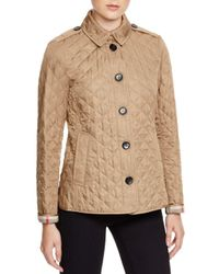 Burberry - Natural Ashurst Quilted Jacket - Lyst