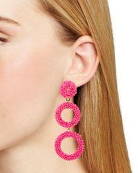 BaubleBar - Pink Capella Drop Earrings - Lyst