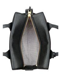 Anne Klein - Black Collar Pin Leather Satchel - Lyst