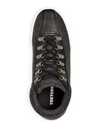 Tretorn - Gray Men's Dante Wool & Leather Mid Top Sneakers for Men - Lyst