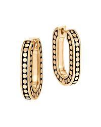 John Hardy - Metallic 18k Yellow Gold Dot Small Link Earrings - Lyst