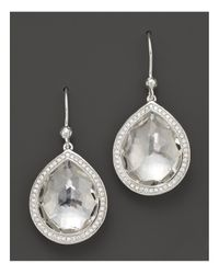 Ippolita | Metallic Sterling Silver Stella Earrings In Clear Quartz With Diamonds | Lyst