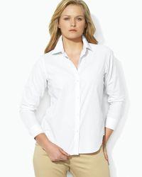 Pink Pony | White Lauren Plus Non Iron Dress Shirt | Lyst